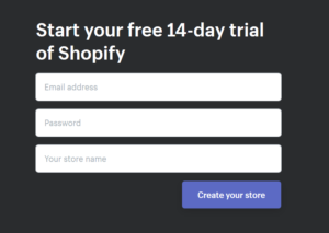 Set up a Shopify Store, Register