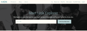 Moz Link Explorer for Domain Flipping